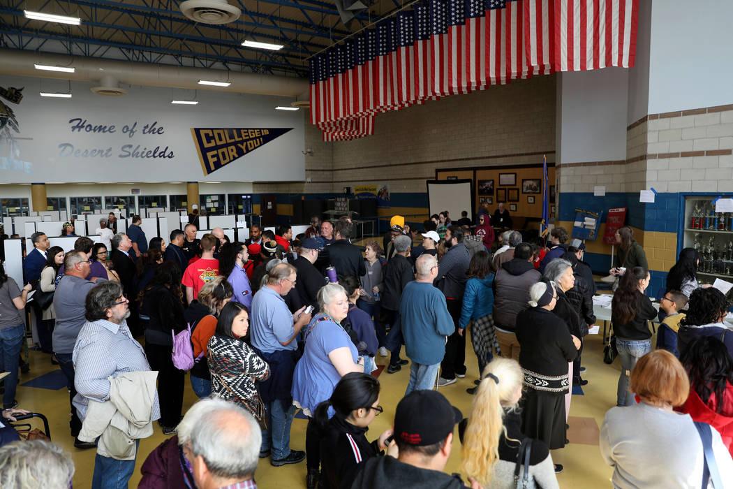 at Cheyenne High School in North Las Vegas on Saturday, Feb. 22, 2020. (Elizabeth Page Brumley/ ...