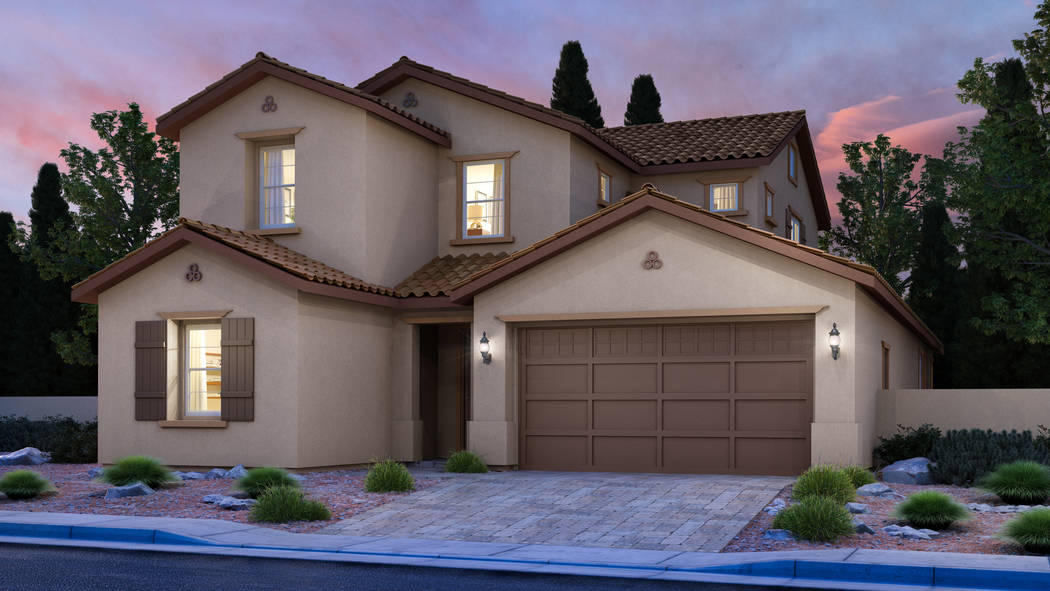 The newest addition to the Skye Canyon master-planned community in the northwest Las Vegas Vall ...