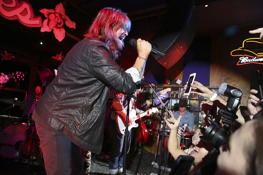 Billy Ray Cyrus performs at a private concert at Tootsie's to celebrate the release of Miley Cy ...
