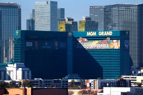 MGM Grand casino-hotel in Las Vegas, Tuesday, Jan. 14, 2020. (Erik Verduzco / Las Vegas Review ...