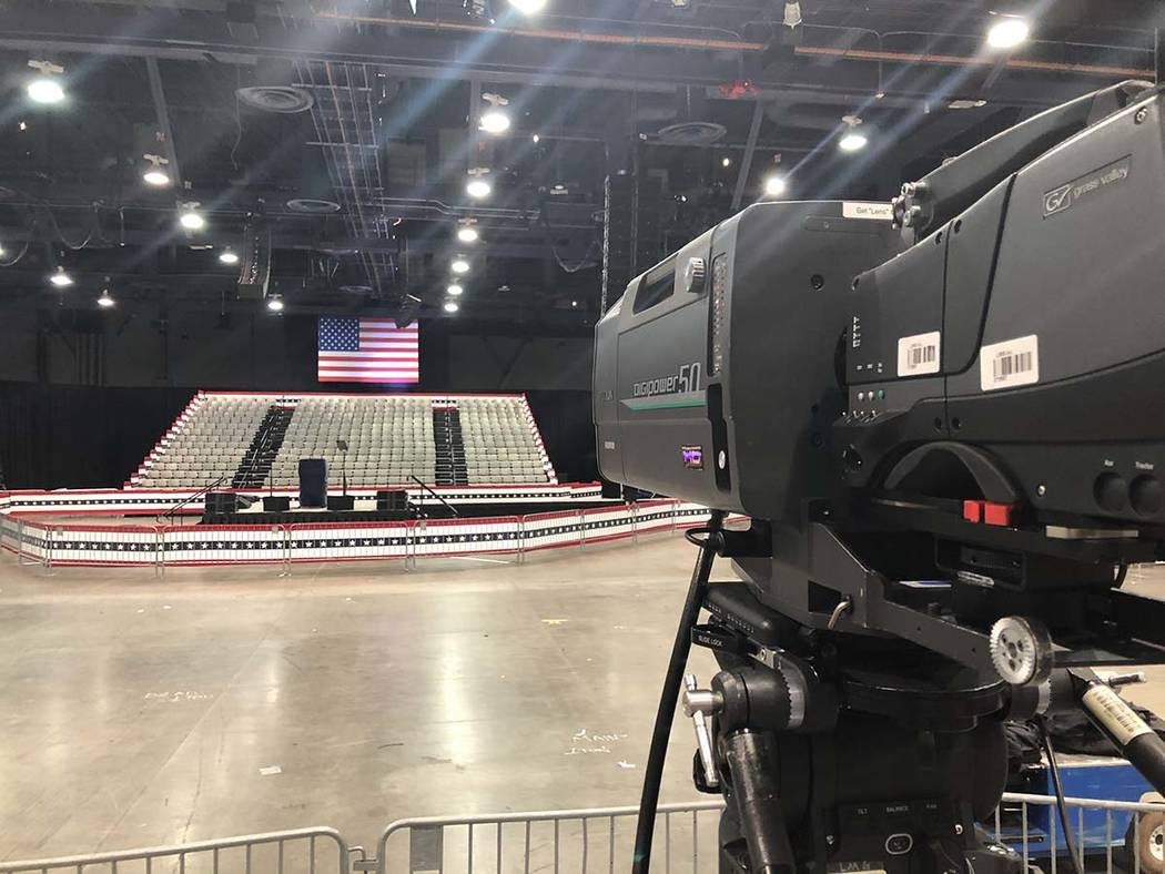 Preparations are underway inside the Las Vegas Convention Center on Thursday, Feb. 20, 2020, wh ...