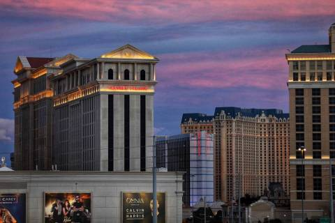 Caesars Palace on the Las Vegas Strip on Friday, Feb. 15, 2019. (Las Vegas Review-Journal/File)