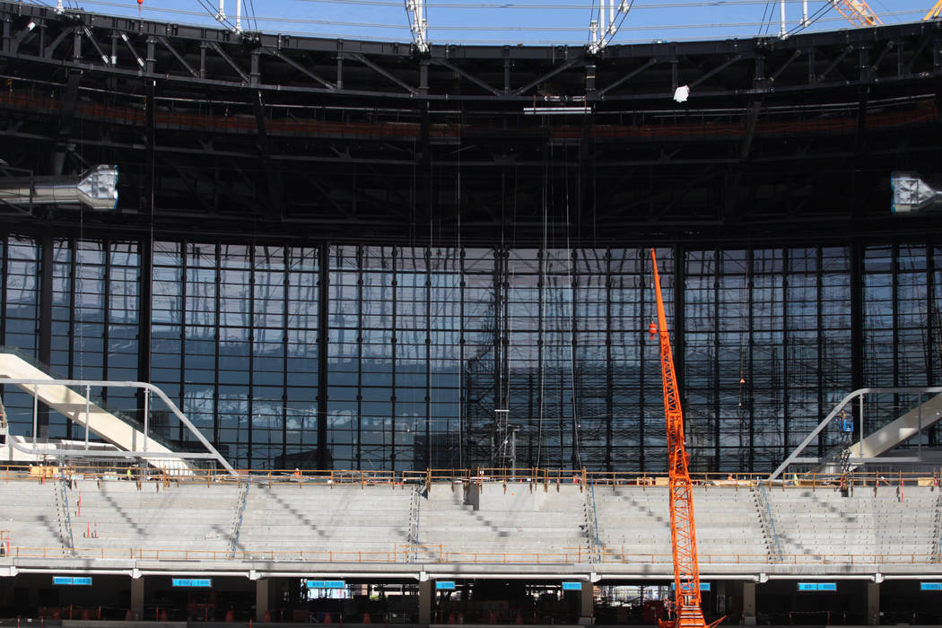 The view inside the Raiders Allegiant Stadium in Las Vegas, Tuesday, Feb. 18, 2020. (Erik Verdu ...