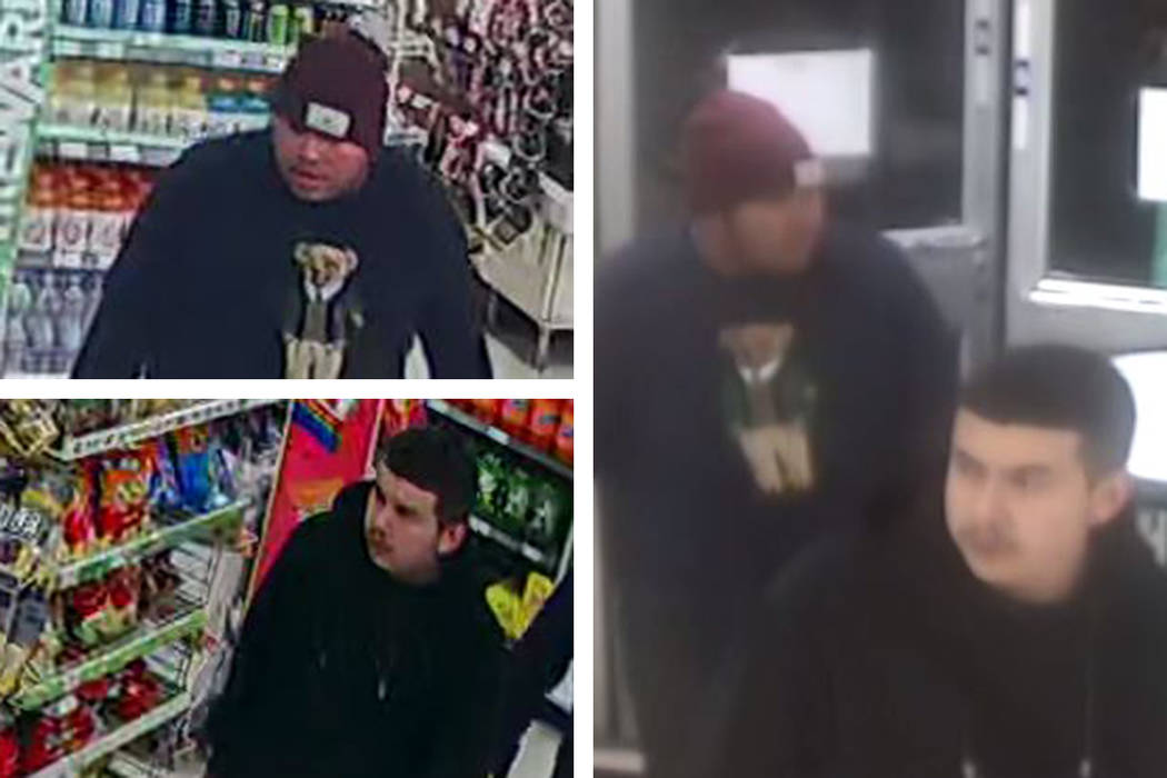 Police are seeking two men in connection to a robbery that occurred Friday, Jan. 17, 2020, on t ...