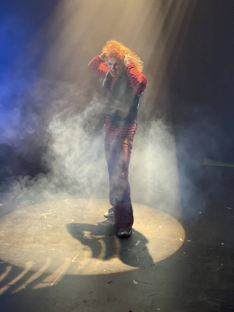"""Carrot Top is shown recording a heavy metal version of """"Send In The Clowns"""" at The Counts — D ..."""