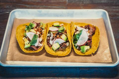 Mabel's BBQ at the Palms has added tacos and tamales made with its smoked meats. (Palms)