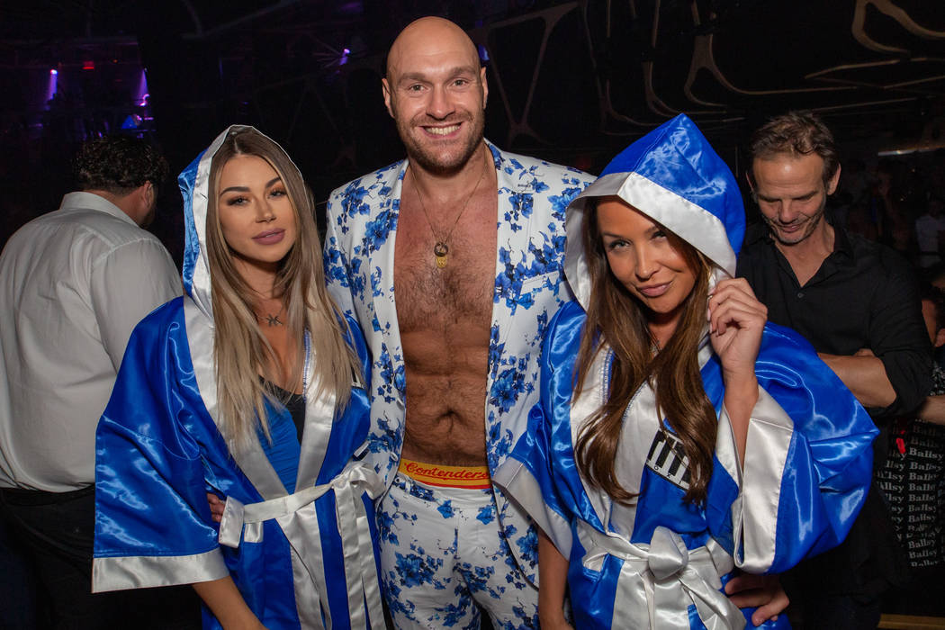 Tyson Fury parties at Hakkasan Nightclub at MGM Grand on Saturday, June 15, 2019 (Wolf Productions)