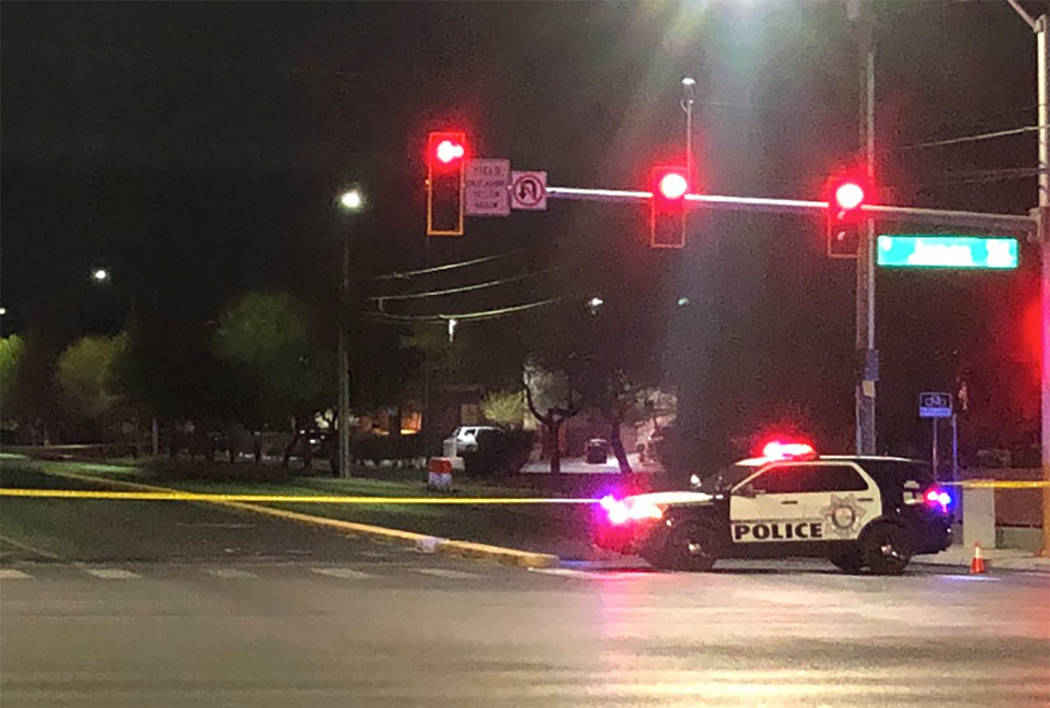 Homicide detectives en route to central Las Vegas shooting scene