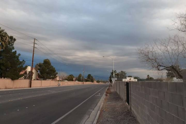 Clouds can be seen rolling through the valley at Spencer Street and Windmill Lane on Saturday, ...