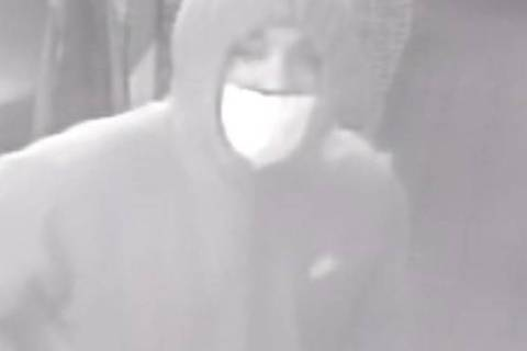 Las Vegas police are searching for a man who walked into a restaurant at 5 a.m. Dec. 21 and rob ...