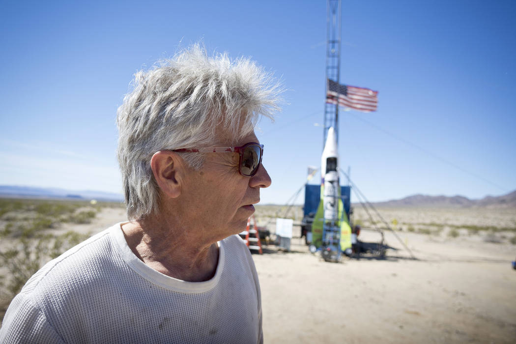 """""""Mad"""" Mike Hughes reacts after the decision to scrub another launch attempt of his rocket near ..."""