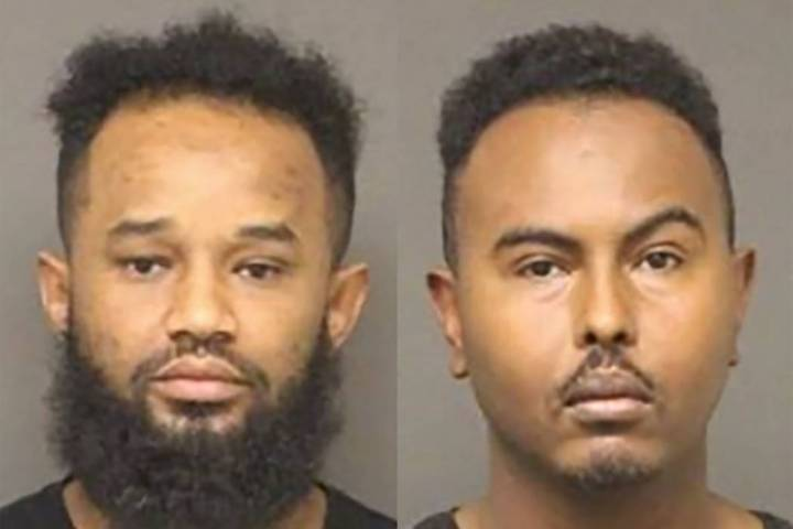 Beyan Mohammed Beyan, left, and Samatar Shafi Ahmed (Bullhead City Police Department)