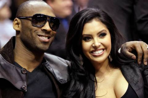 Los Angeles Lakers guard Kobe Bryant and his wife, Vanessa, attend the skills competition at th ...