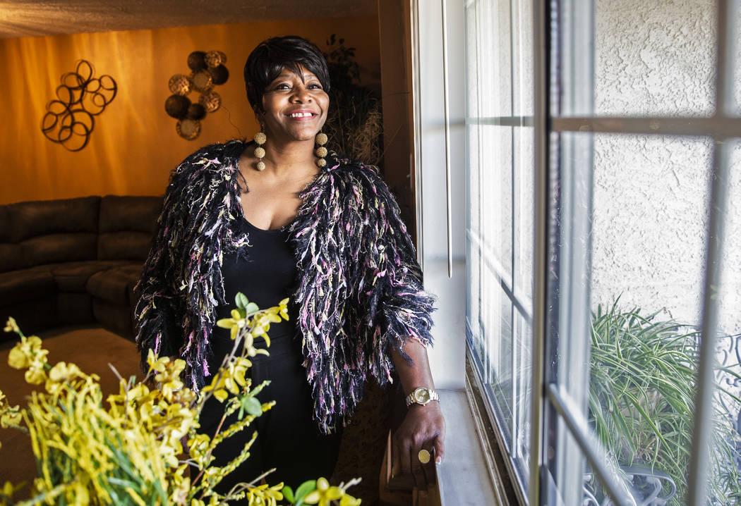 Nancy Brown at her home in North Las Vegas on Tuesday, Feb. 25, 2020. (Benjamin Hager/Las Vegas ...