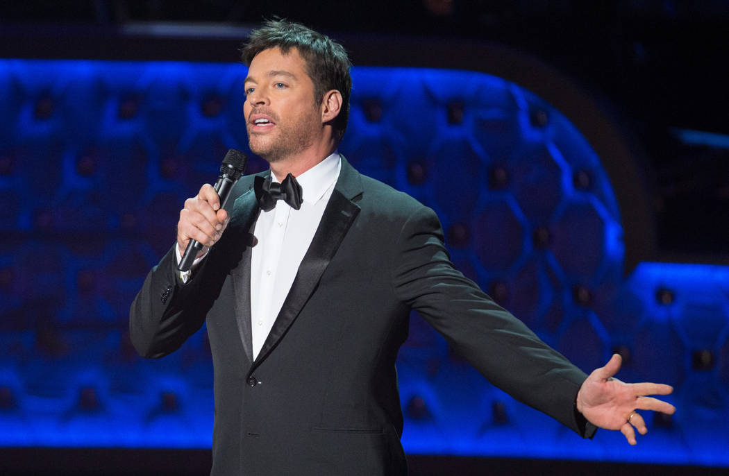 """Harry Connick Jr. performs during the """"Sinatra 100 - An All-Star Grammy Concert"""" at The Wynn La ..."""