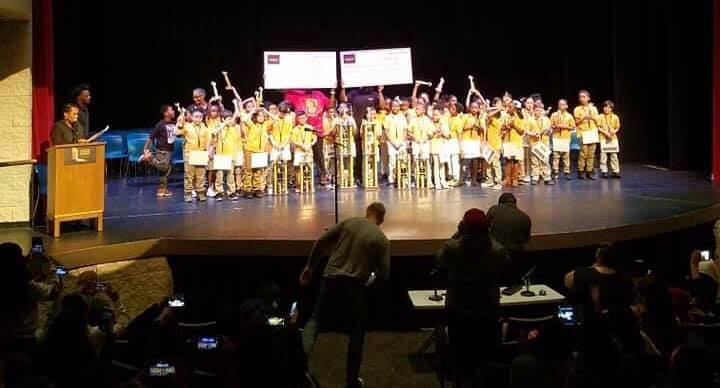 Third and fourth grade students at the final round of the Native Son Spelling Bee last year. (P ...
