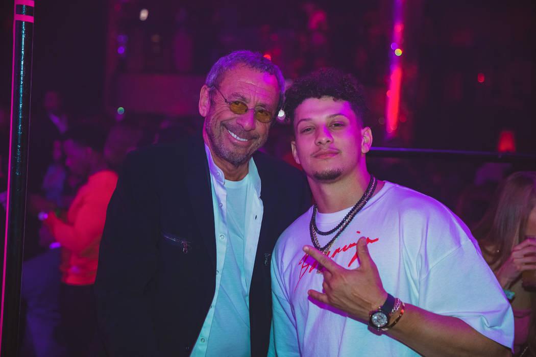 Las Vegas nightclub icon Victor Drai and Super Bowl MVP Patrick Mahomes of the Kansas City Chie ...