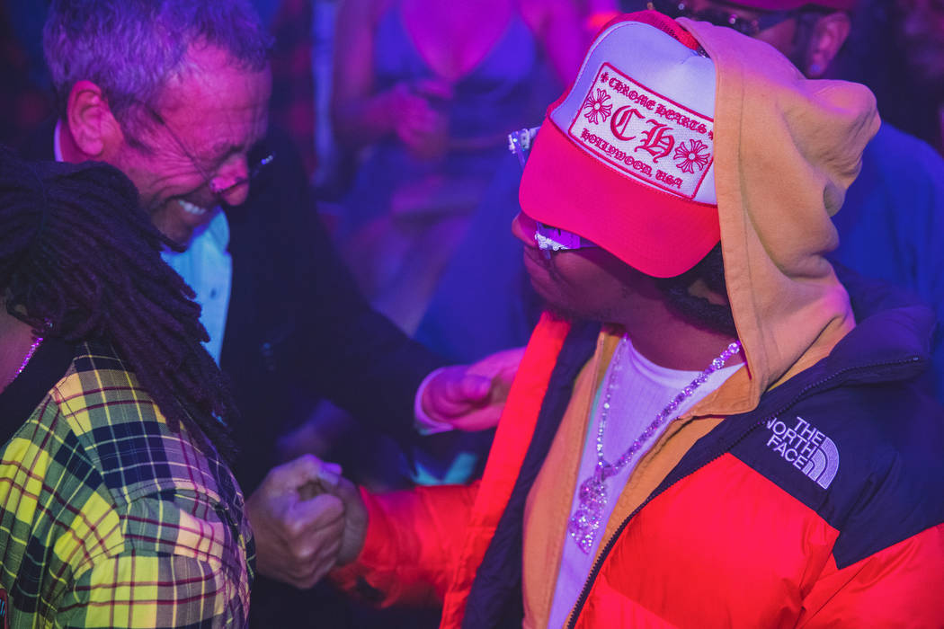 Victor Drai and Takeoff of Migos are shown at Drai's Nightclub at Cromwell on Saturday, Feb. 23 ...