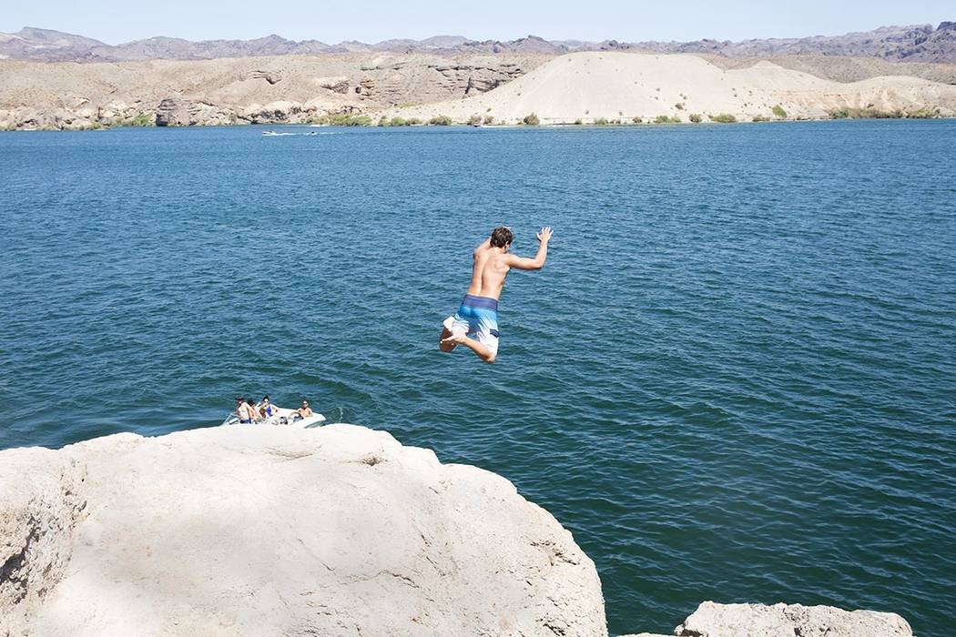 Waves up to 3 feet are forecast for parts of the Lake Mead National Recreation Area on Tuesday, ...