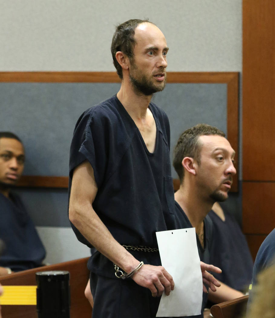 Daniel Spitler, 39, accused of manufacturing a pair of pipe bombs, appears in court at the Regi ...