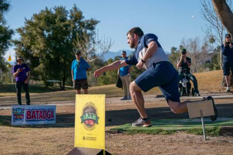Pro disc golfer Nate Sexton won the Las Vegas Challenge and $4,000 Sunday at Wildhorse. Photo c ...