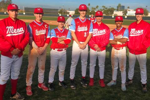 Seven Las Vegas-area players have helped Mesa Community College of Arizona to a No. 2 ranking i ...