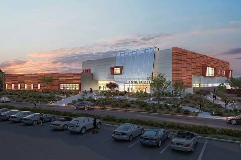 A rendering of the College of Southern Nevada's health sciences building. (WG Communications Group)