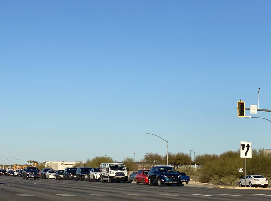 St. Rose Parkway westbound to Executive Airport Drive southbound will see another left turn lan ...