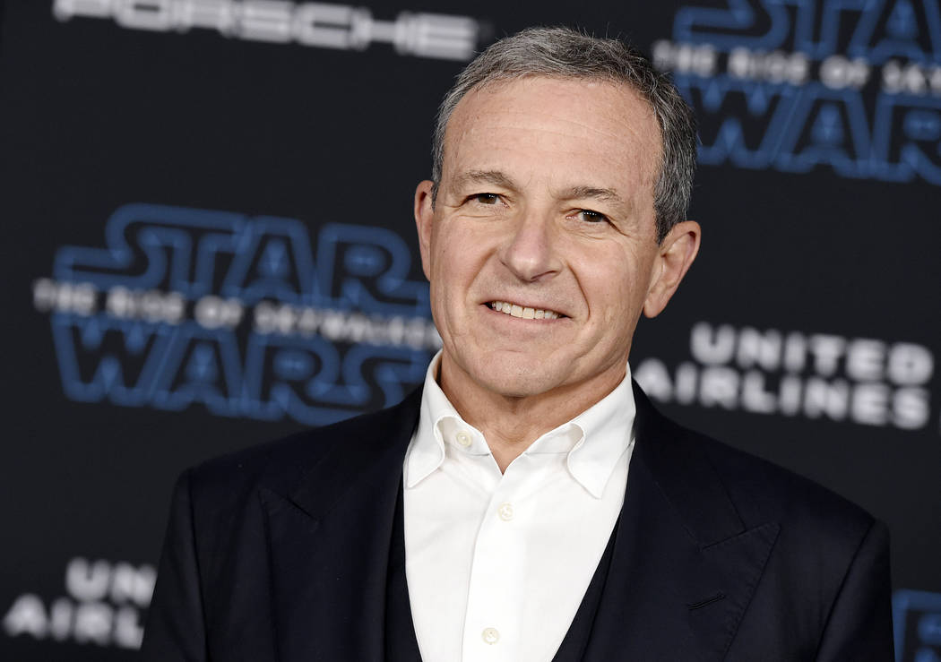 "In this Dec. 16, 2019, file photo, Disney CEO Robert Iger arrives at the world premiere of ""Sta ..."