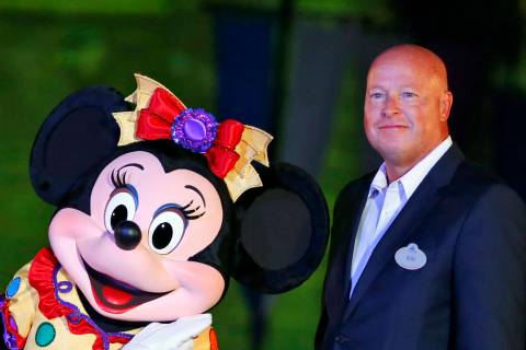 In this Sept. 11, 2015, file photo, Chairman of Walt Disney Parks and Resorts Bob Chapek poses ...