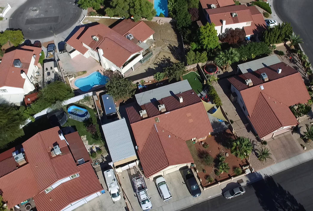 Single family houses are seen in Summerlin on Friday, Oct. 11, 2019. (Bizuayehu Tesfaye/Las Veg ...