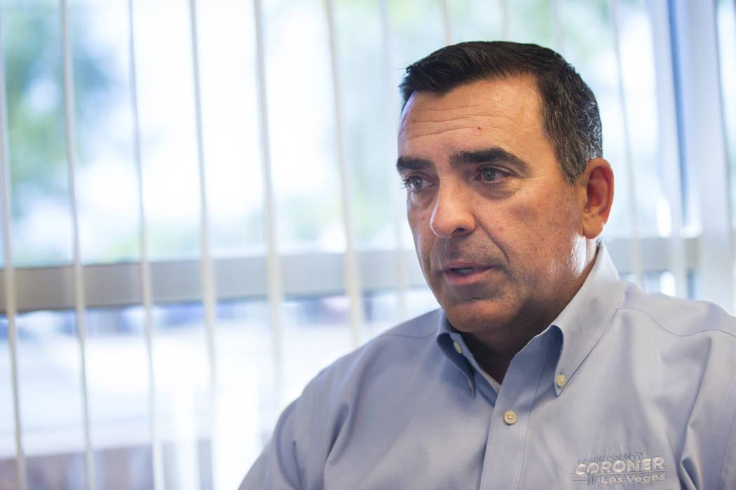 Clark County Coroner John Fudenberg has fought to keep autopsies secret. (Chase Stevens/Las Veg ...