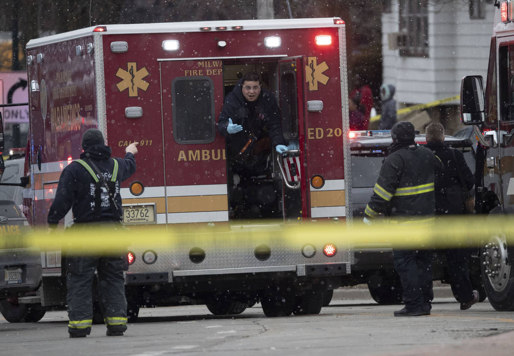 Milwaukee Police and Milwaukee Fire Dept. personnel respond to reports of an active shooting at ...