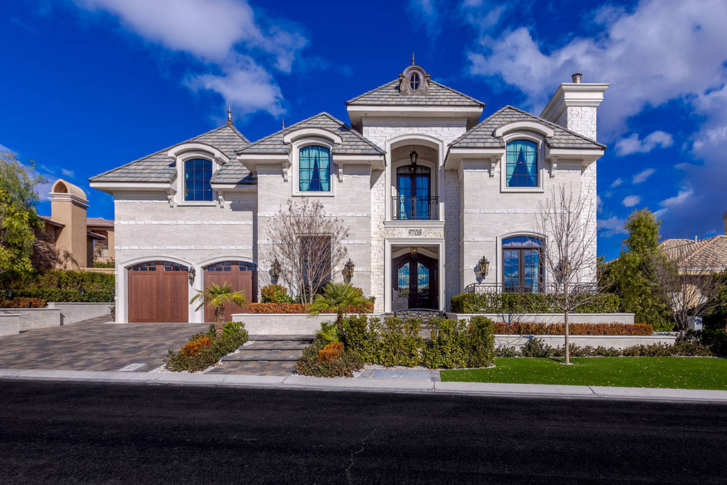 This 10,507-square-foot Queensridge mansion was listed Feb. 10 for $3,495,000. (Ivan Sher Group)