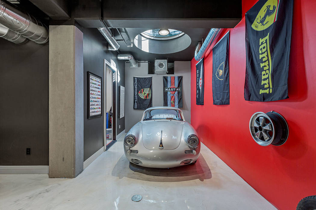 Homeowner Benjamin Girardin designed the home to reflect his passion for classic German cars. ( ...