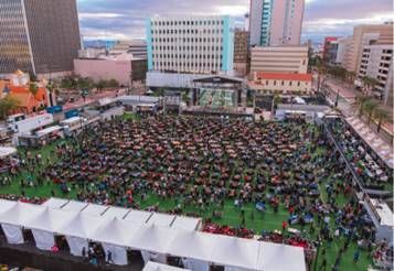 The Downtown Las Vegas Events Center's 2020 Vegas Draft Party will feature stadium-style seatin ...