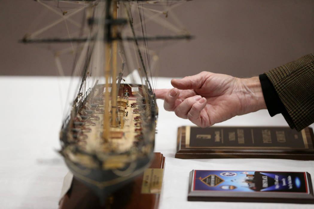 U.S. Air Force veteran Jim Twohig talks about the U.S. Brig Niagara ship model he completed aft ...