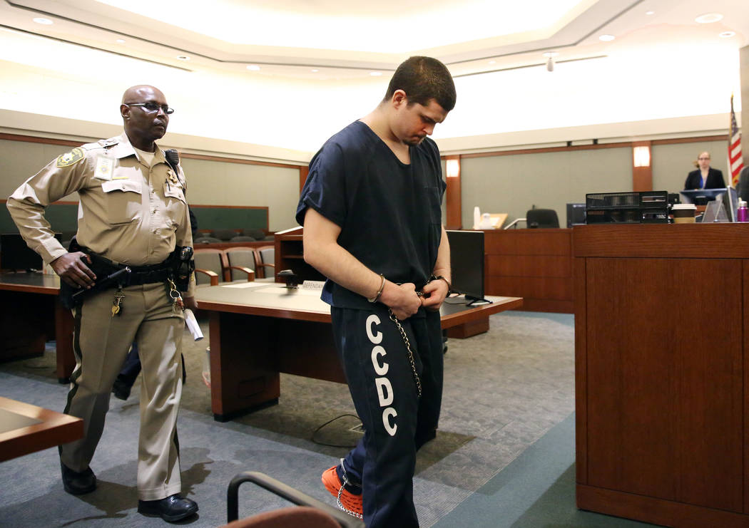 Justin Tom Bennett, convicted in the killing of his daughter, 3-year-old Abygaile, led out of t ...