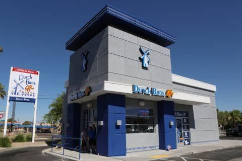 Dutch Bros. Coffee will open a new location in Las Vegas on Friday. (Bizuayehu Tesfaye/Las Vega ...