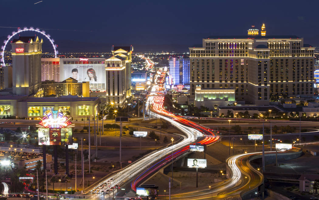 Hotels on The Strip in Las Vegas on Saturday, June 30, 2018. Richard Brian Las Vegas Review-Jou ...