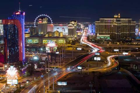 Hotels on The Strip in Las Vegas on Saturday, June 30, 2018. (Richard Brian / Las Vegas Review- ...