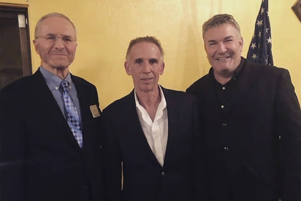From left to right, Ed Thorp, Anthony Curtis and Don Johnson are shown recently at the 24th ann ...