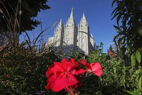 This Oct. 4, 2019, file photo, shows the Salt Lake Temple at Temple Square in Salt Lake City. T ...