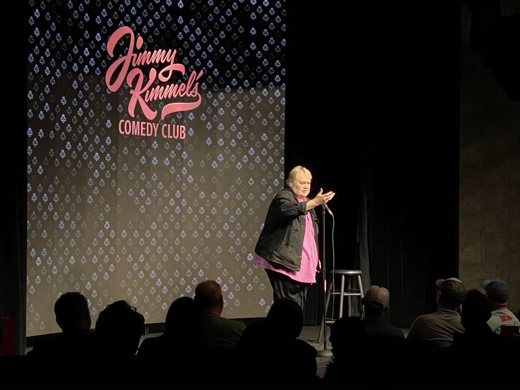 Louie Anderson is shown at Jimmy Kimmel's Comedy Club on Thursday, Feb. 27, 2020. (John Katasil ...