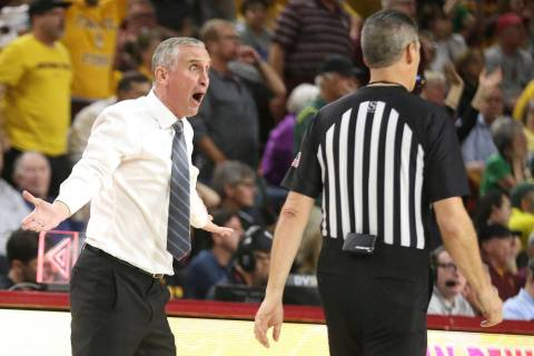 Arizona State head coach Bobby Hurley can't believe his team got called for a foul against Oreg ...