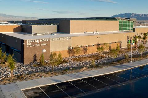 Sunrise Mountain High School at 2575 N. Los Feliz St. in Las Vegas. (Courtesy)