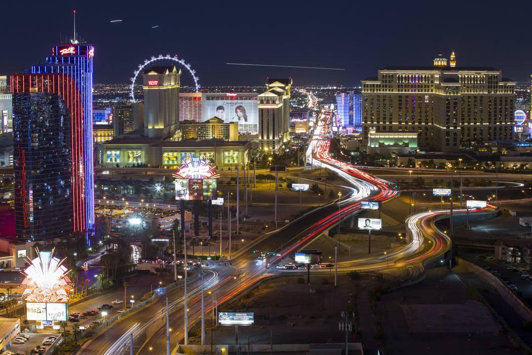 Hotels on The Strip in Las Vegas on Saturday, June 30, 2018. Richard Brian Las Vegas Review-Jou ...