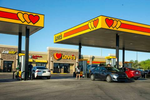 The Love's Travel Stop along Interstate 15 at Apex Great Basin Way (L.E. Baskow/Las Vegas Revie ...