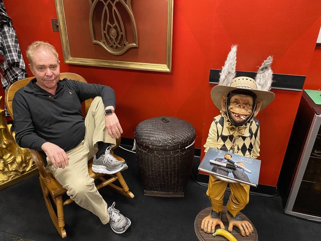 Teller is shown in the Monkey Room at the Rio on Tuesday, Feb. 25, 2020. (John Katsilometes/Las ...