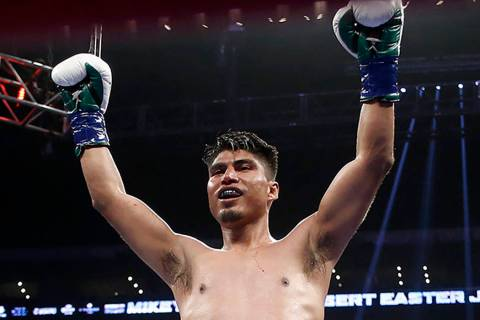 Mikey Garcia, seen in 2018. (AP Photo/Alex Gallardo)